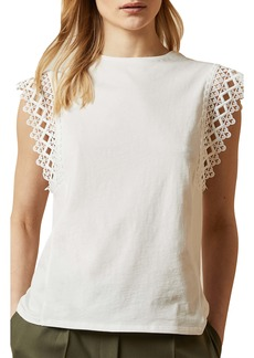 Ted Baker London Ulayna Lace Detail Top