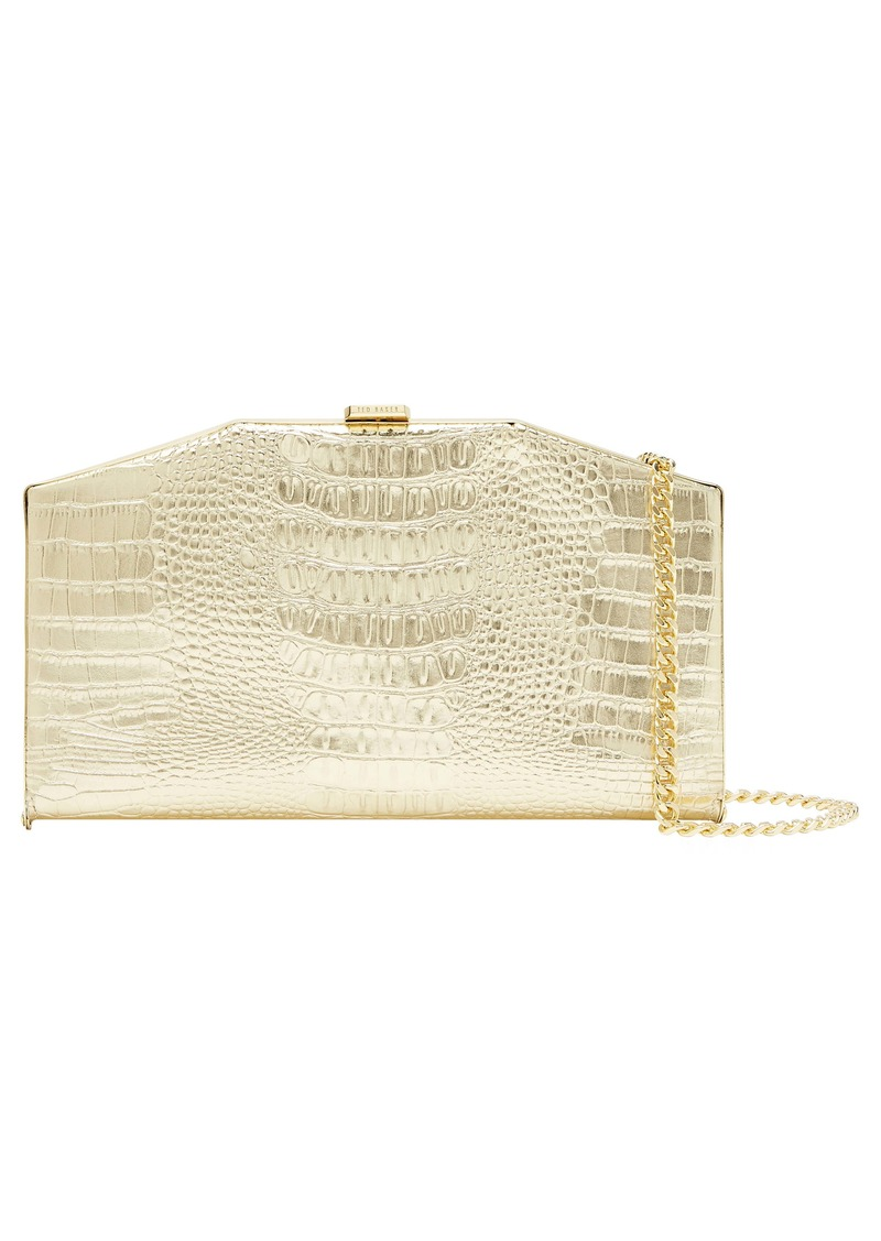 Ted Baker London Unae Croc Embossed Leather Clutch