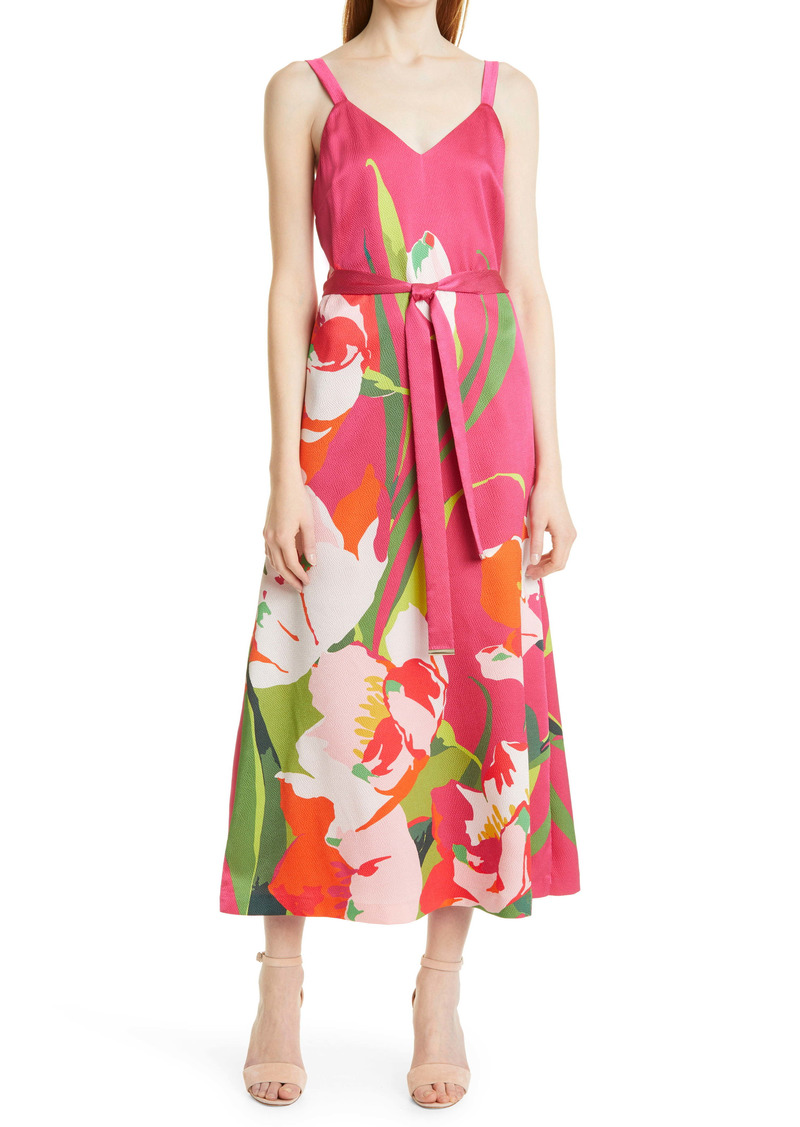 Ted Baker London Urban Tie Waist Midi Dress