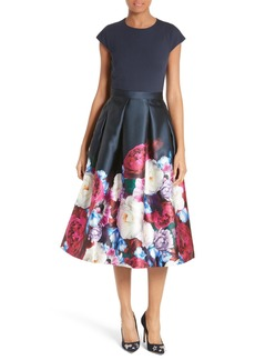 Ted Baker London Valkia Blushing Bouquet Fit & Flare Dress