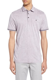 Ted Baker London Vaness Slim Fit Leaf Polo