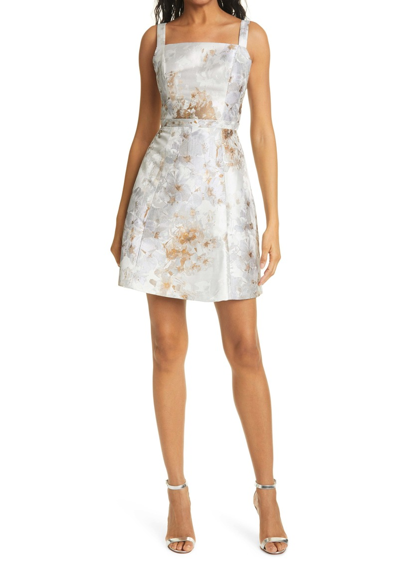 Ted Baker London Vanilla Floral Jacquard Fit & Flare Dress