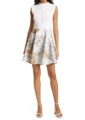 Ted Baker London Vanilla Jacquard Sleeveless Dress