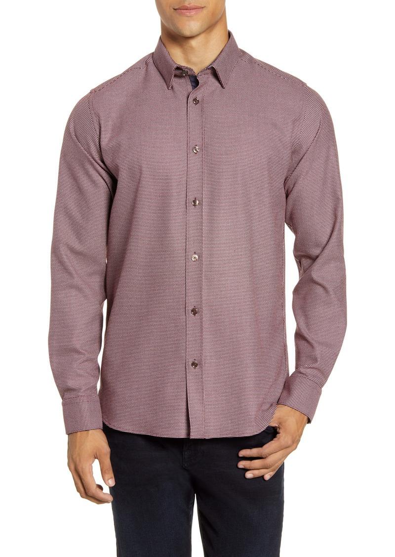 Ted Baker London Velos Slim Fit Textured Sport Shirt