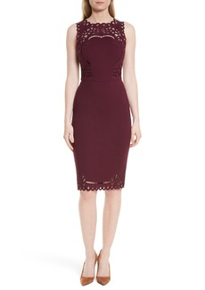 Ted Baker London Verita Cutout Yoke Sheath Dress