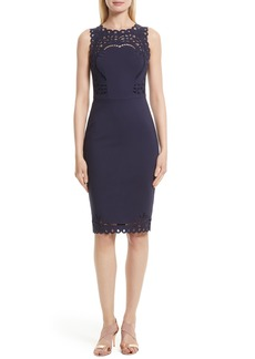 Ted Baker London Verita Eyelet Embroidered Body-Con Dress