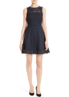 Ted Baker London Verony Eyelet Fit & Flare Dress