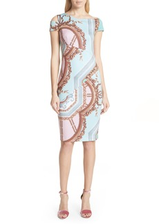 Ted Baker London Versailles Print Body-Con Dress
