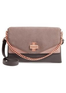 Ted Baker London Vierra Leather & Suede Crossbody Bag