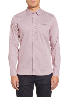 Ted Baker London Vilamor Extra Slim Fit Print Sport Shirt