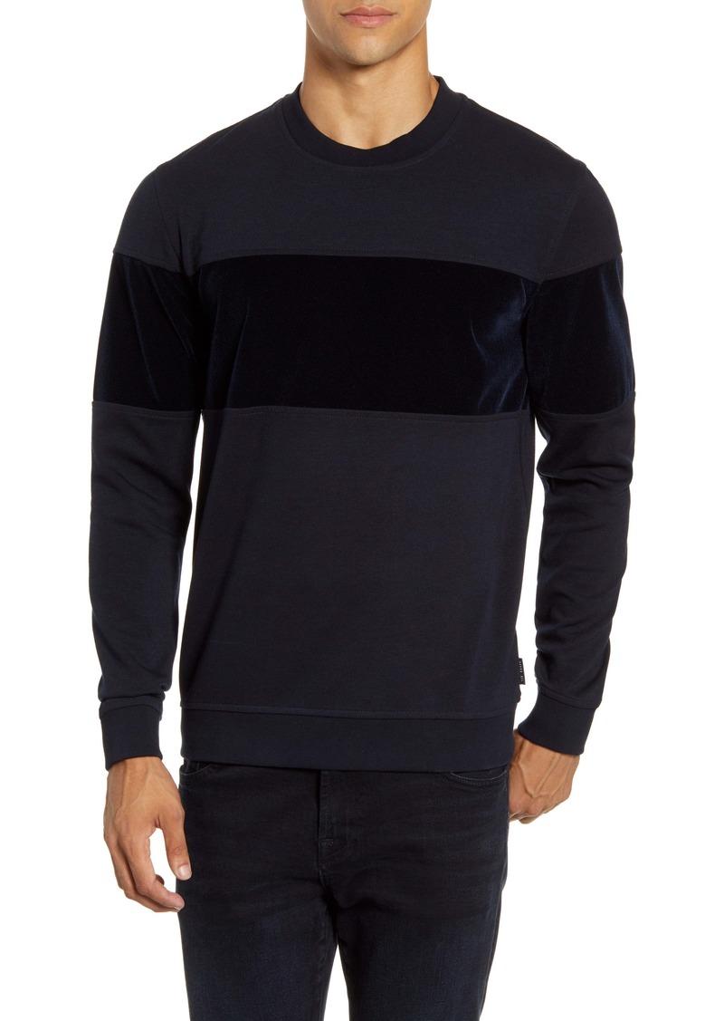 Ted Baker London Wander Velvet Panel Sweatshirt