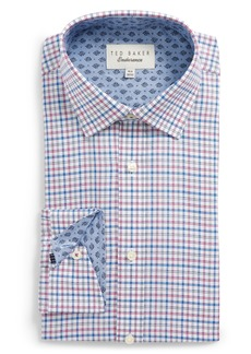 Ted Baker London Welsh Trim Fit Check Dress Shirt