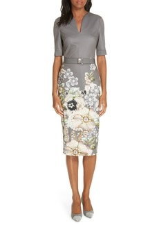 Ted Baker London Wendala Gem Gardens Body-Con Dress