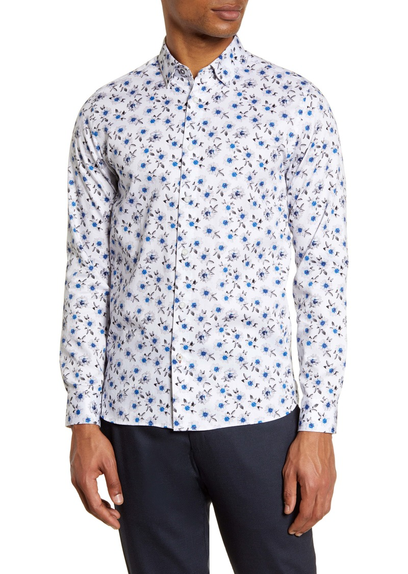 Ted Baker London Wewill Floral Button-Up Shirt