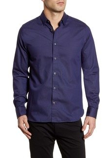 Ted Baker London Whyme Slim Fit Dot Button-Up Shirt