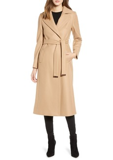 Ted Baker London Wide Lapel Long Wool Coat