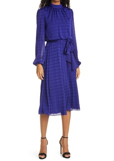 Ted Baker London Wilmer Houndstooth Long Sleeve Dress
