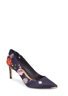 Ted Baker London Wishirp Floral Pointed Toe Pump (Women)