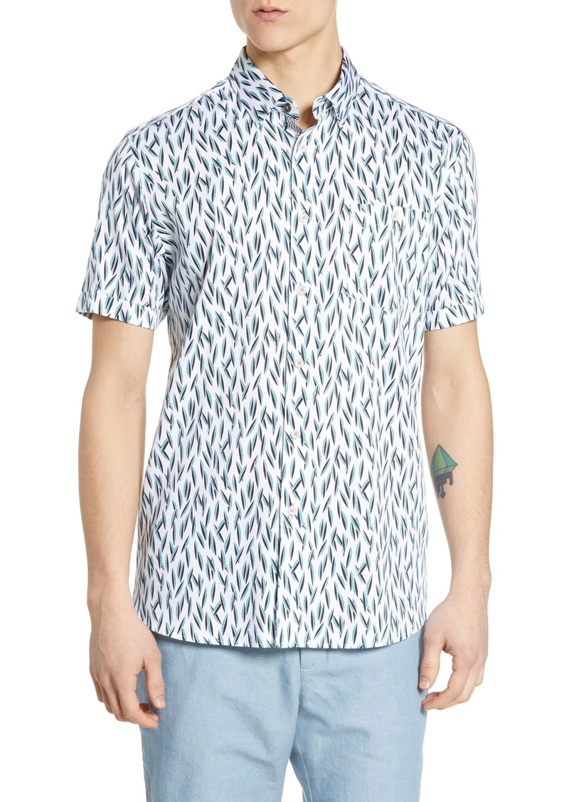 Ted Baker London Wollrus Slim Fit Print Sport Shirt