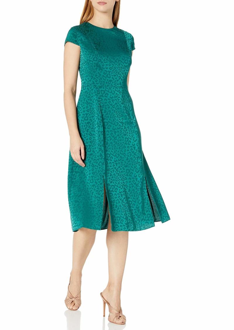 Ted Baker London Women's Bellana Short Sleeve Jacquard midi Dress