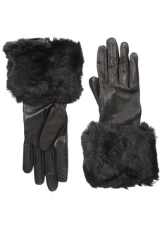 Ted Baker London Women's Emree Faux Fur Cuff Gloves  Small/Medium