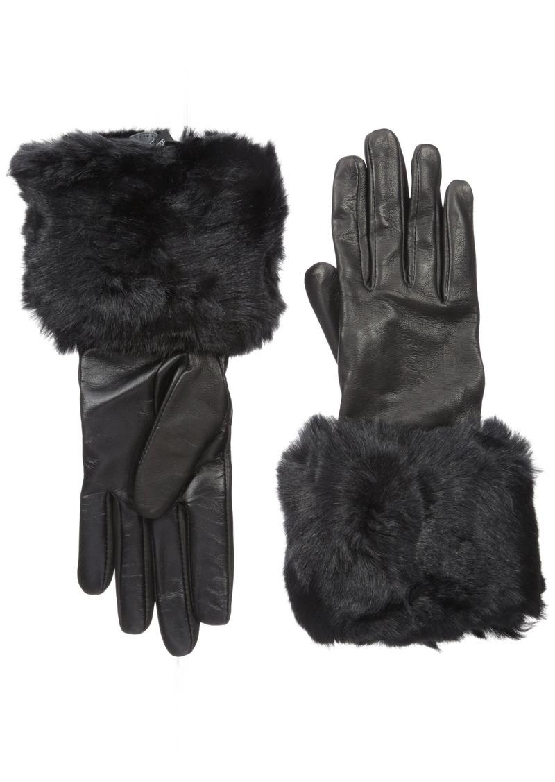 0d2038eec228d London Women s Emree Faux Fur Cuff Gloves Small Medium. Ted Baker
