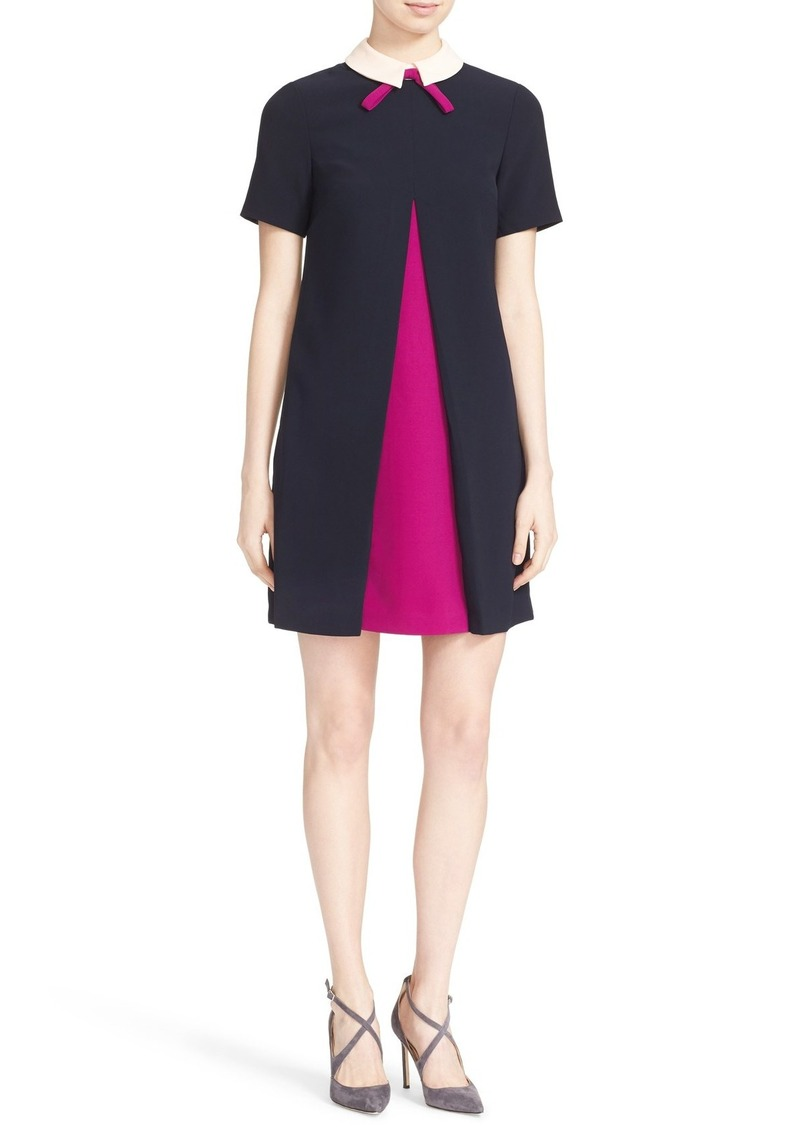 Ted Baker London Wonce Contrast Pleat A-Line Dress