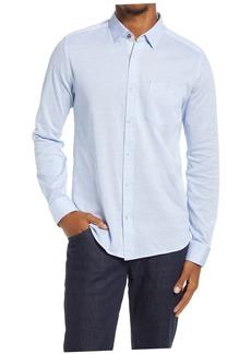 Ted Baker London Wonyeer Slim Fit Button-Up Piqué Shirt