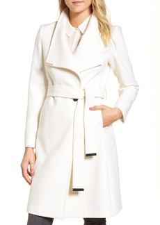 Ted Baker London Wool Blend Long Wrap Coat