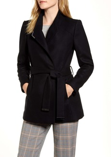 Ted Baker London Drytaa Wool Blend Short Wrap Coat