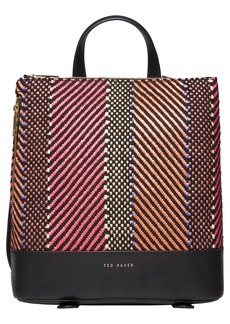 Ted Baker London Woven Zip Backpack - Pink