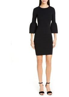 Ted Baker London Yansiaa Bell Sleeve Body-Con Dress