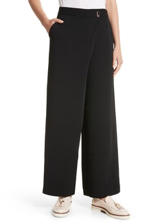 Ted Baker London Yasin Wide Leg Wrap Front Trousers