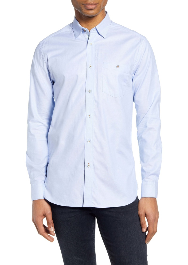 Ted Baker London Yesway Slim Fit Solid Button-Up Shirt
