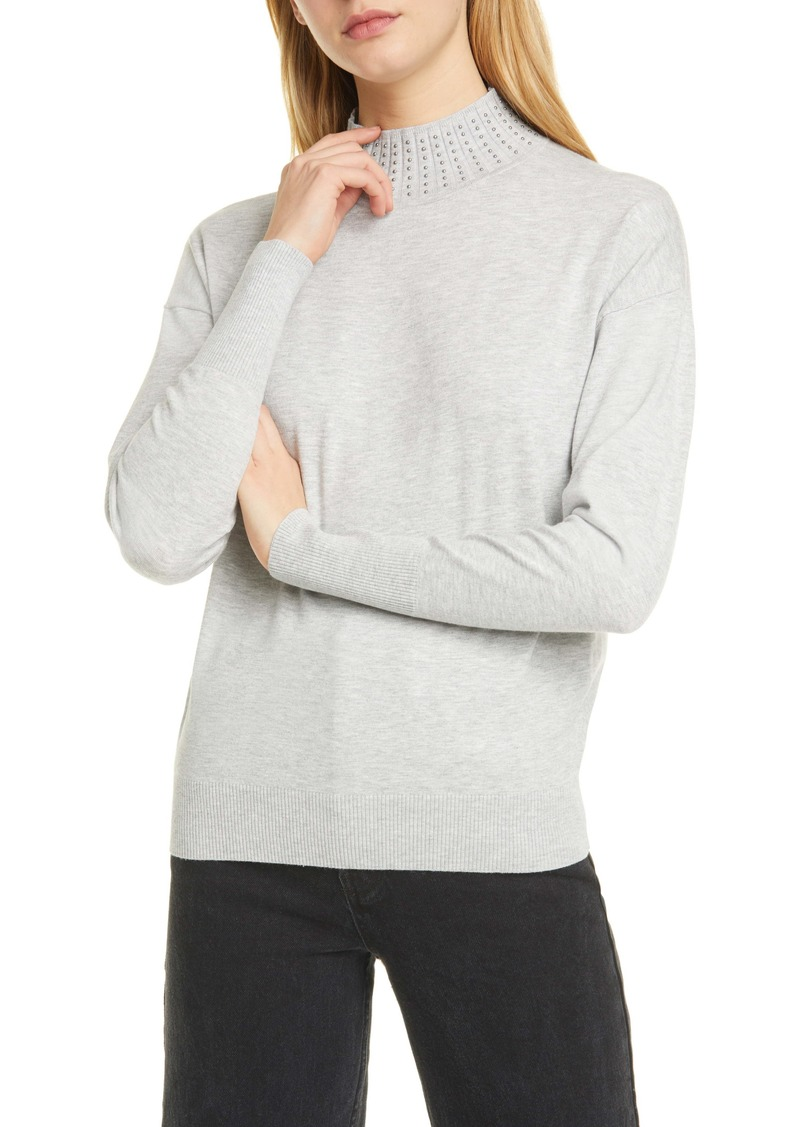 Ted Baker London Ysiee Embellished Funnel Neck Sweater