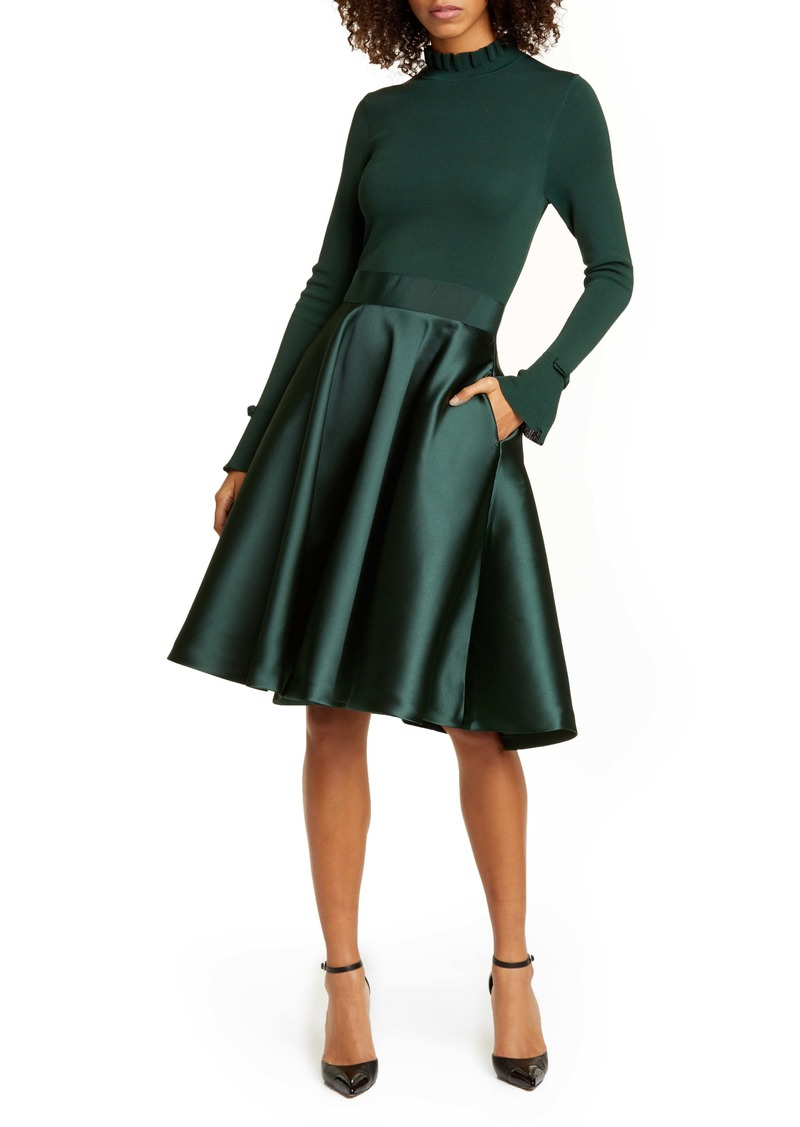 Ted Baker London Zadi Long Sleeve Fit & Flare Dress