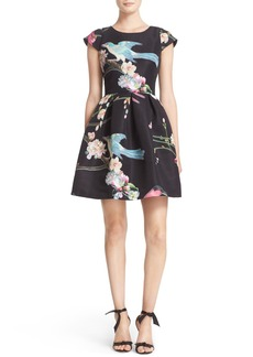 Ted Baker London Zaldana Print Fit & Flare Dress