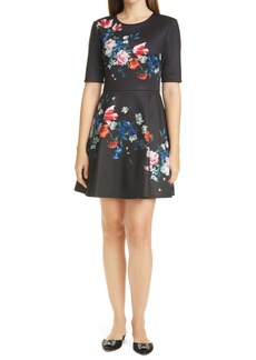 Ted Baker London Zalena Floral Fit & Flare Dress