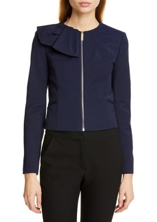 3e2a86e4e15c Ted Baker London Zamelii Cropped Jacket with Bow Detail