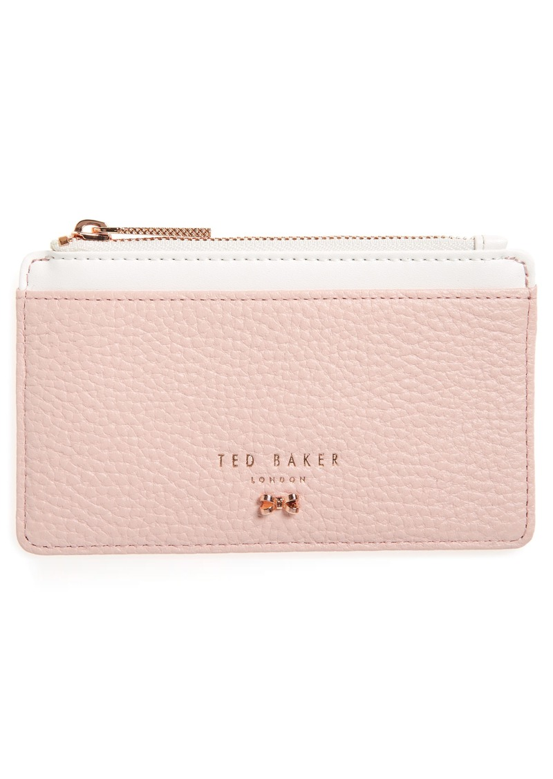Ted Baker London Zip Leather Card Holder