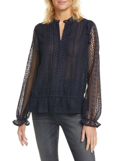 Ted Baker London Zip-Up Lace Top
