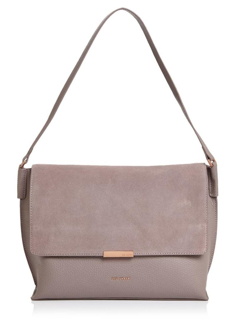 Ted Baker Louissa Leather & Suede Shoulder Bag