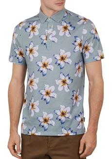 Ted Baker Mantis Floral Print Regular Fit Polo Shirt