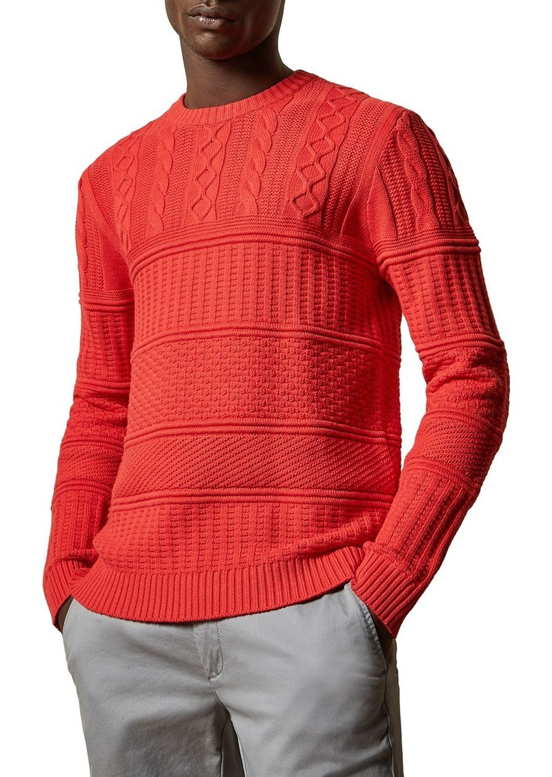 Ted Baker Marbal Mix Stitch Crewneck Sweater