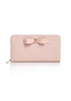 Ted Baker Aine Matinee Bow Zip Around Wallet