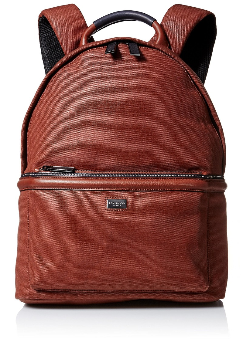 Ted Baker Ted Baker Men s Canvas and Leather Backpack  d0ca5aac93520