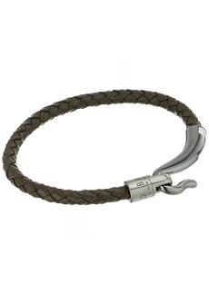 Ted Baker Men's Chewer T Clasp Woven Leather Bracelet