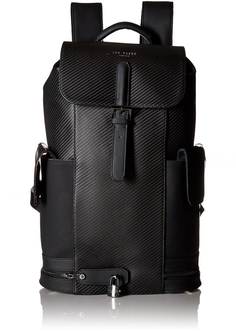 0dee1f17d Ted Baker Ted Baker Men s Havana Carbon Fibre Leather Backpack Black ...