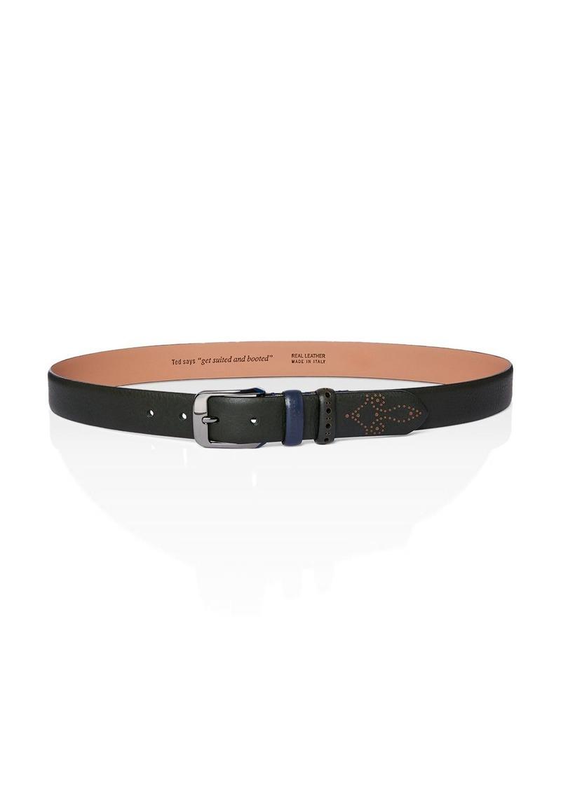 Ted Baker Men's Leather Brogue Detail Belt