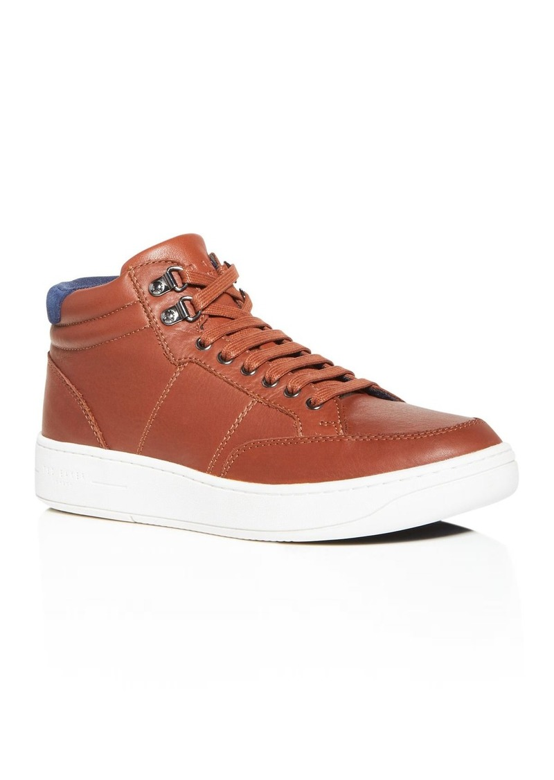 Ted Baker Men's Malanno Leather Mid-Top Sneakers